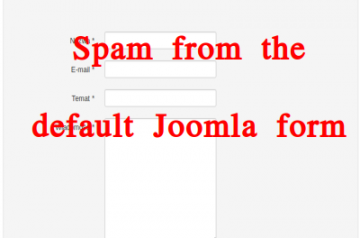 Spam from the default Joomla form